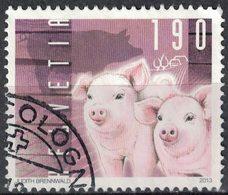 Suisse 2013 Oblitére Used Animaux Porc Sus Scrofa Domestica Porcelets SU - Schweiz