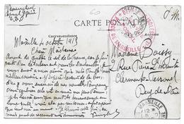 WWI MARSEILLE CAPORAL GENIE DEPOT DES ISOLES POUR BOISSY CLERMONT FERRAND RUE L ERMITE - CPA CORRESPONDANCE MILITAIRE - Guerre 1914-18