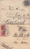 2 LETTRES. ALLEMAGNE.  1895-96. GEESTEMÜNDE BREMERHAVEN POUR ST VALLIER-DE-THIEY PAR GRASSE   / 2 - Germany