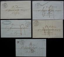 Allevard (Isère) Lot De 5 Lettres De 1846 47 Et  48, Voir Photos - 1801-1848: Précurseurs XIX