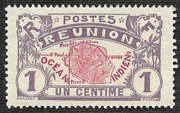 REUNION   1907-17  -  YT 56   - Carte Ocean Indien - - Nsg - Neufs