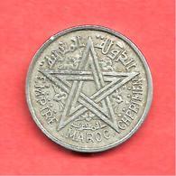 1 Franc , MAROC , Protectorat Français , Aluminium , AH 1370 , 1951 , N° Y # 46 - Colonies
