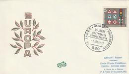 """Obl. Illust. Sur Env. """"10 Jahre Europa Marcken - 25 Jahre Briefmarken Sammlerverein"""" (Weilburg, 629) Du 03-10-1965 - Storia Postale"""
