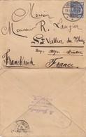LETTRE. ALLEMAGNE. 13 8 1895 GEESTEMÜNDE  POUR ST VALLIER-DE-THIEY PAR GRASSE BEAU TAMPON ELEVE AU LYCEE DE NICE   / 2 - Germany