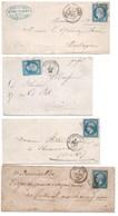 France YT 14A Beaucaire + 14B X 2 Molsheim Et Fontainebleau + 60A Caen - 1853-1860 Napoléon III
