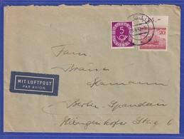 Bund 1952 Helgoland Mi-Nr. 150 In MIF Auf Luftpost-Brief Von Celle Nach Berlin - Briefe U. Dokumente