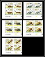 92739d Sénégal N°1112/1116 Dinosaures Animaux Prehistoriques Prehistorics 1994 Non Dentelé ** MNH Imperf Coin Datés - Timbres