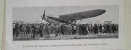 Aérodrome D'Oran (Algérie) - Arrivée D'un Blériot 110 - Coupure  De Presse  De 1932 - Documents Historiques