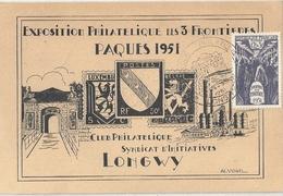 Carte France Exposition Philatélique De Longwy - France