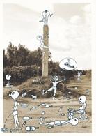 (A607) - SANARICA (Lecce) - Il Menhir (cartolina Pubblicitaria Del Locale Menhir Cafè) - Lecce