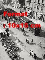 Reproduction D'une Photographieancienne Du Tramway à Vapeur Gamba De Legn à Milan En Italie En 1950 - Riproduzioni