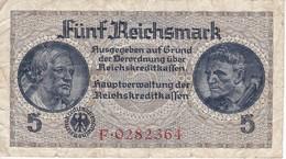 BILLETE DE ALEMANIA DE 5 REICHSMARK DEL AÑO 1940   (BANKNOTE) - [ 4] 1933-1945 : Tercer Reich