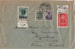 AUTRICHE ALLEMAGNE REICH LETTRE OBLITERATION MIXTE 28 4 938 POUR LA FRANCE BANDE DE CONTROLE DES CHANGES - Covers & Documents