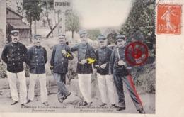6 DOUANIERS Français Et Allemand à La Frontière Franco-Allemande - Deutsch-Französische Grenze - Carte Circulé En 1908 - Autres