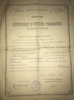 Certificat D'Etudes Primaires Académie De Strasbourg De 1925 Phalsbourg - Noelle Charneux Née à Villerupt - Diploma's En Schoolrapporten