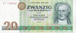 BILLETE DE ALEMANIA DDR DE 20 MARK  DEL AÑO 1975  (BANK NOTE) - [ 6] 1949-1990 : RDA - Rép. Dém. Allemande