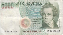 BILLETE DE ITALIA DE 5000 LIRAS DEL AÑO 1985 DE VELLINI  (BANKNOTE) - [ 2] 1946-… : Repubblica