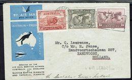 Australie - Bel Affr. Poste 97 + P. A 4 Et 5 Sur Env. De Sydney Pour Zandvoort - Obl. Mécanique 1/12/34 Air Mail Section - Briefe U. Dokumente