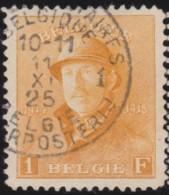 Belgie    .    OBP        .    175  (2 Scans)  .         O     .      Gebruikt   .    /    .   Oblitéré - 1919-1920 Trench Helmet