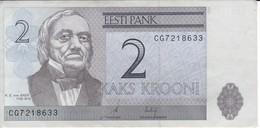 BILLETE DE ESTONIA DE 2 KROONI DEL AÑO 2006 EN CALIDAD EBC (XF) (BANKNOTE) - Estland