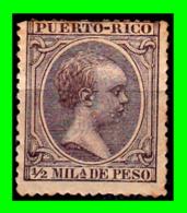 ESPAÑA ( PUERTO RICO ) SELLO AÑO 1890-1897.ALFONSO XIII 1/2MIL-DE PESO - Puerto Rico