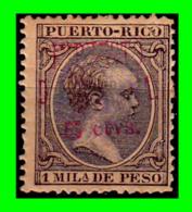 ESPAÑA ( PUERTO RICO ) SELLO AÑO 1890-1897.ALFONSO XIII 1MIL-DE PESO - Puerto Rico