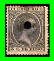 ESPAÑA ( PUERTO RICO ) SELLO AÑO 1890-1897.ALFONSO XIII 5-CTM-DE PESO - Puerto Rico