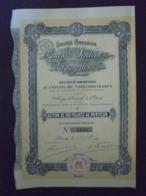 FRANCE ET ESPAGNE - PARIS 1920 - LOT DE 5 TITRES - MINES DE SENTEIN ET DE BERGERGUES - ACTION DE 100 FRS - Unclassified