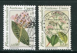 NATIONS UNIES- Office De Genève- Y&T N°190 Et 191- Oblitérés (fleurs) - Office De Genève