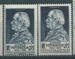 [35] Variété :  N° 789 Fournier Piquage Déplacé + Normaux ** - Varieties: 1945-49 Mint/hinged