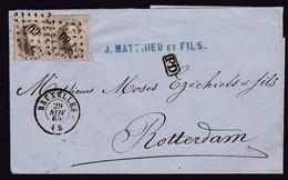 N° 14 ( 2 ) / Grand Fragment De BRUXELLES Vers Rotterdam 29 Nov. 1865 - 1863-1864 Medallones (13/16)