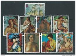 Paraguay U 1661/1667 (o) Usado. 1978 Pintura - Paraguay