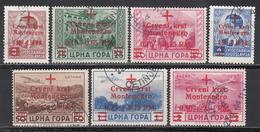 Montenegro, 1944   Mi Nr. 29 / 35 - Ocupación 1938 – 45