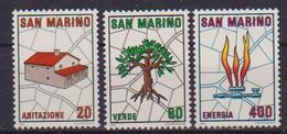 SAN MARINO 1981 PIANO REGOLATORE DEL TERRITORIO DELLA REPUBBLICA SASS. 1079-1081 MNH XF - Saint-Marin