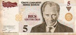 TURKEY 5 LIRA 2005 P-217  CIRC. XF++ - Turkey