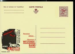 """Publibel Neuve N° 2312  ( Agence """" La Fourmi""""  Westende - Bad - Bains) - Stamped Stationery"""