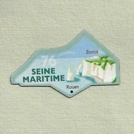 """Magnets. Magnets """"Le Gaulois"""" Départements Français. Seine Maritime (76) - Publicitaires"""