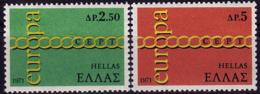 Grèce - Europa CEPT 1971 - Yvert Nr. 1052/1053 - Michel Nr. 1074/1075  ** - 1971