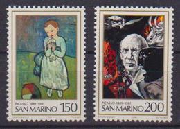 SAN MARINO 1981 CENTENARIO DELLA NASCITA DI PICASSO SASS. 1083-1084 MNH XF - Saint-Marin