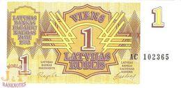 LATVIA 1 RUBLIS 1992 PICK 35 UNC - Latvia