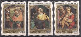 SAN MARINO 1981 NATALE SASS. 1085-1087 MNH XF - Saint-Marin