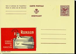 Publibel Neuve N° 2319  ( Briquet - Feu - Fire - RONSON ) - Stamped Stationery