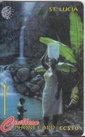 ST. LUCIA ISL.(GPT) -  Diamond Falls, CN : 21CSLA(Lti), Tirage %30000, Used - St. Lucia