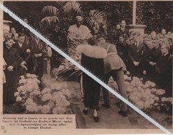LEUVEN.1931. HET GESTICHT VOOR WIJSBEGEERTE WERD HET BORSTBEELD KARDINAAL MERCIER INGEHULDIGD/ KONING ALBERT - Oude Documenten