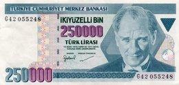 TURKEY 250000 LIRA 1998 P-211  CIRC.XF++ - Turkey