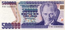 TURKEY 500000 LIRA 1994 P-208c  CIRC.XF++AUNC - Turkey