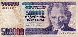 TURKEY 500000 LIRA 1998 P-212a.1  CIRC. - Turkey