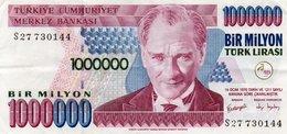TURKEY 1000000 LIRA 1999 P-213a.2  CIRC.XF++ - Turkey