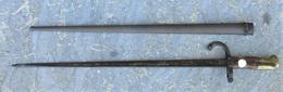 Baionnette Française Fusil Gras Saint Etienne 1876 - Blankwaffen