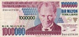 TURKEY 1000000 LIRA 1995 P-209a.1  CIRC. - Turkey